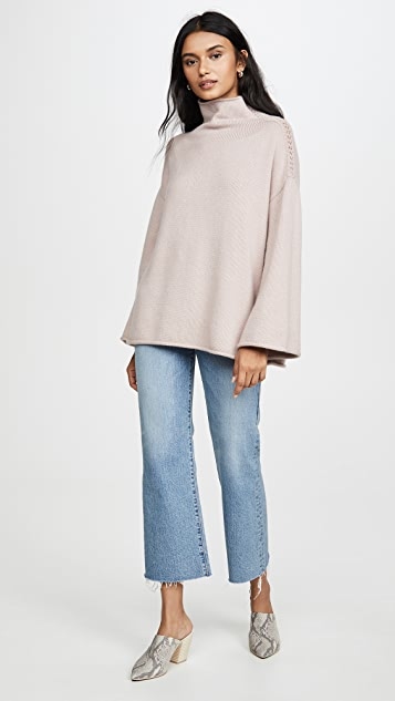 TSE Cashmere Oversized Funnel Neck Sweater