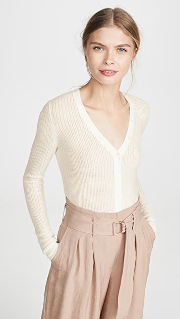 Pointelle Henley Sweater by Tse Cashmere