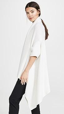 Draped Cashmere Blanket Vest