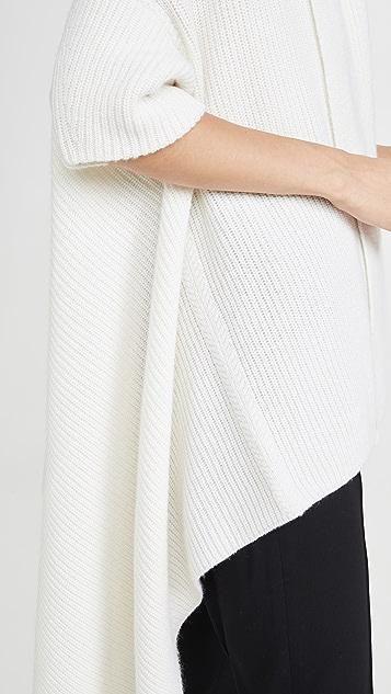 TSE Cashmere 垂褶开司米羊绒毯式马甲