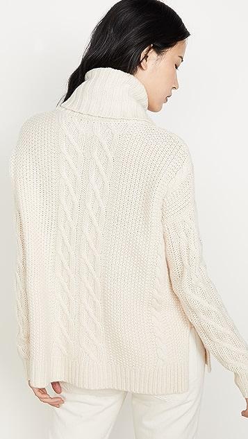 TSE Cashmere 开司米羊绒斗篷式毛衣