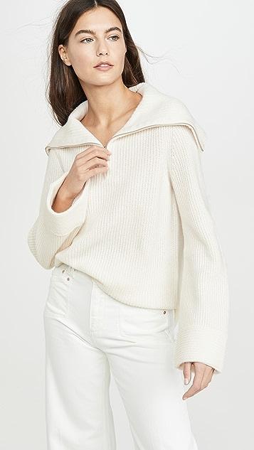 TSE Cashmere Cashmere Zip Front Sweater