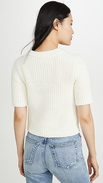 TSE Cashmere 短款半高领 T 恤