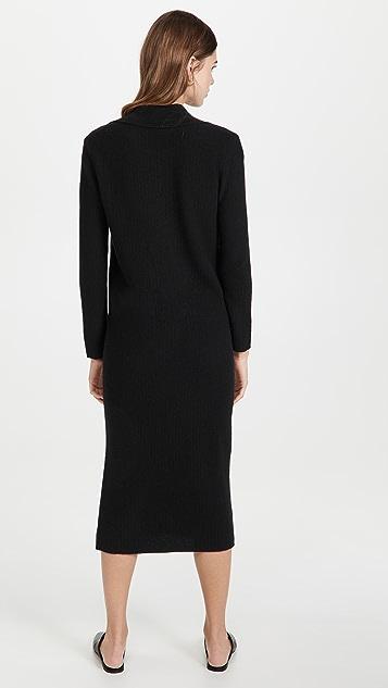 TSE Cashmere Cashmere Rib Polo Dress