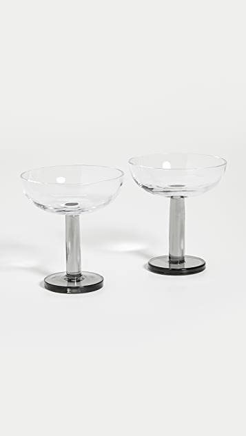 Tom Dixon Puck Coupe Glass Set of 2