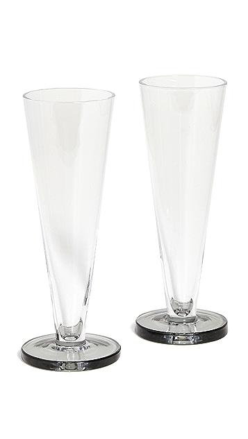 Tom Dixon Puck Flute Glass Set of 2