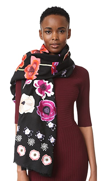 Temperley London Sylvie Embroidered Scarf