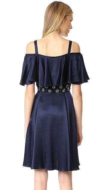 Temperley London Mini Strappy Crossbone Lattice Dress