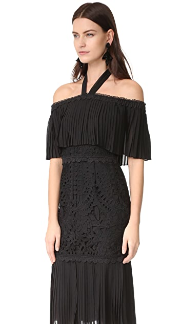 Temperley London Berry Lace Cocktail Dress