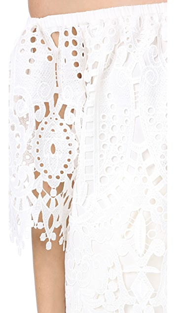 Temperley London Berry Lace Top