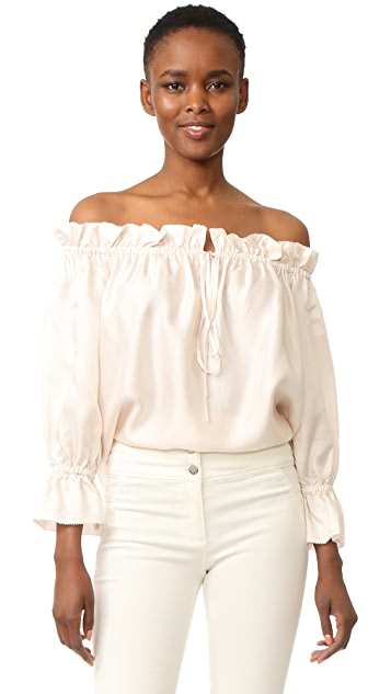 Temperley London Tempest Off Shoulder Blouse