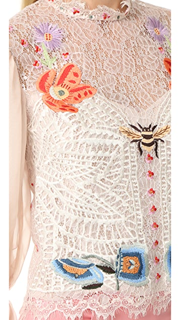 Temperley London Aura Lace Top