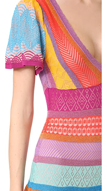 Temperley London Midi Sunlight Knit Dress