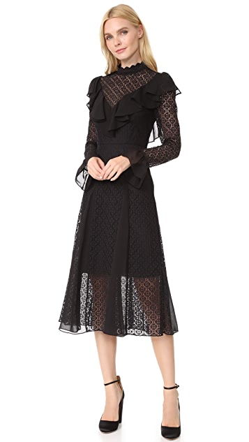 Temperley London Prairie Lace Ruffle Dress