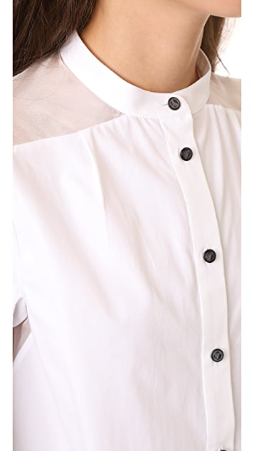 Temperley London Enigma Sleeve Shirt