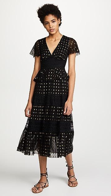 Temperley London Wondering Lace Dress - Black Mix