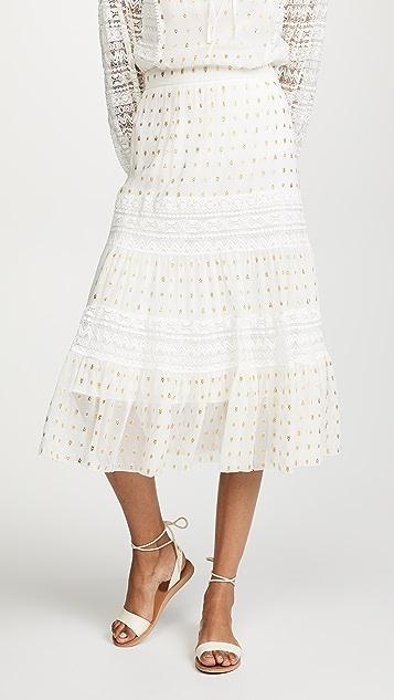 Temperley London Wondering Lace Skirt - White