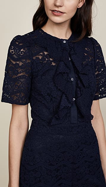 Temperley London Lunar Lace Jumpsuit