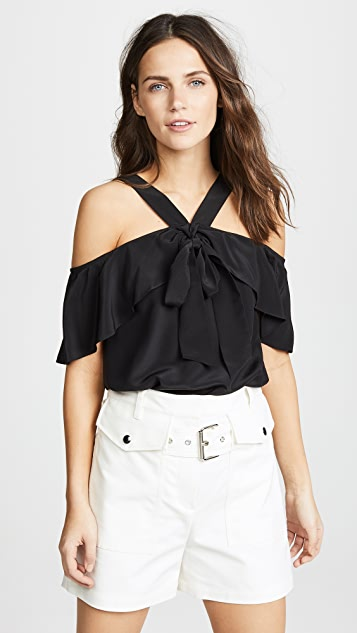 Temperley London Plage Off Shoulder Blouse