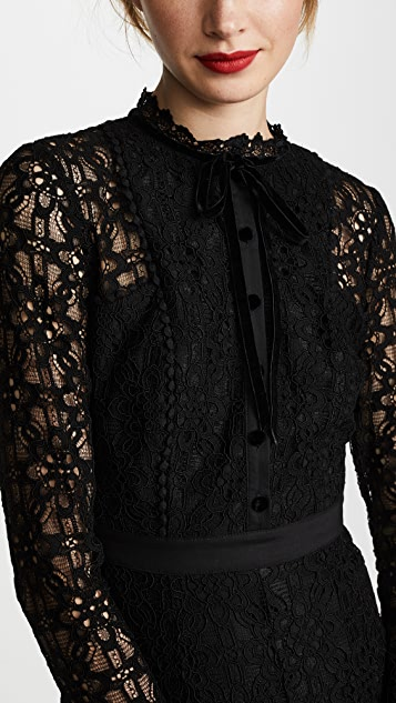 Temperley London Eclipse Lace Collar Dress