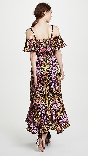Temperley London Safari Printed Wrap Dress
