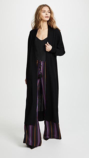 Long Shaw Knit Cardigan by Temperley London