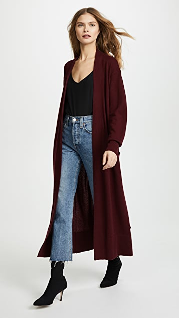Temperley London Long Shaw Knit Cardigan