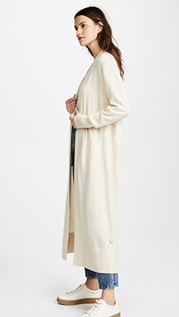 Temperley London Long Shaw Knit Cardigan