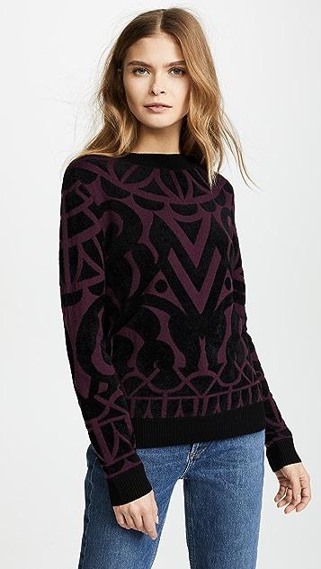 Temperley London Jani Jumper Sweater - Plum/Black