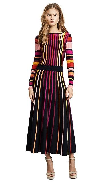 Temperley London Midi Panorama Knit Dress