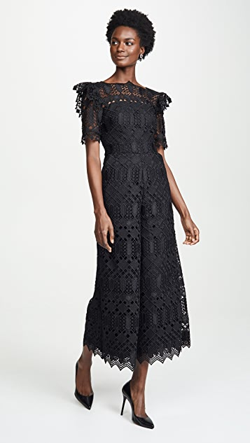Temperley London Amelia Lace Jumpsuit