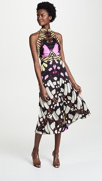 Temperley London Flutter Print Midi Dress