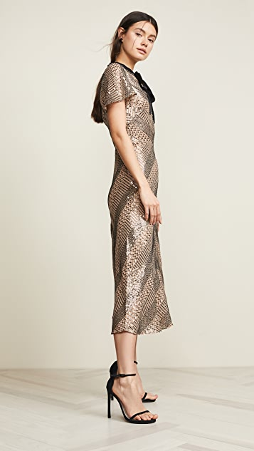 Temperley London Platinum Midi Dress