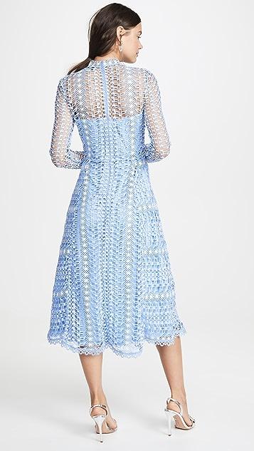 Temperley London 蕾丝中长连衣裙