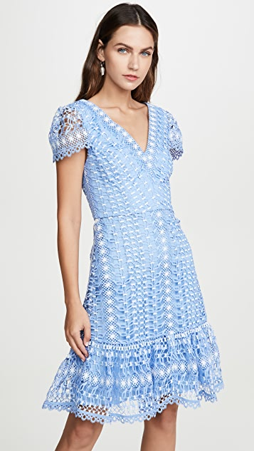 Temperley London Bamboo 蕾丝迷你连衣裙
