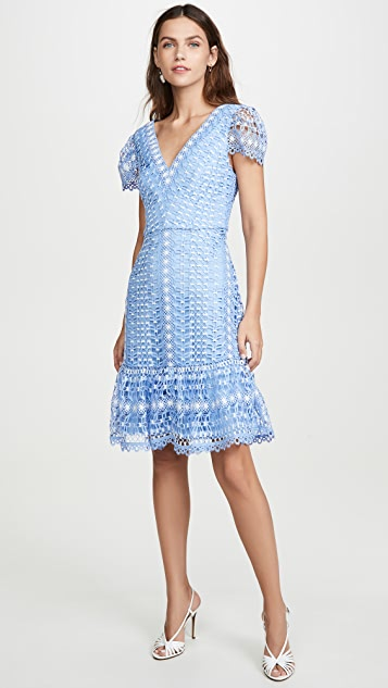 Temperley London Bamboo Lace Mini Dress