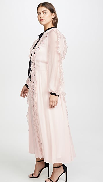 Temperley London Cloudburst Sleeved Dress