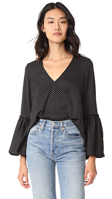 The Fifth Label Banjo Polka Dot Blouse