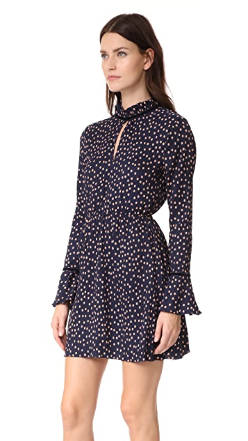 The Fifth Label Atlanta Polka Dot Long Sleeve Dress