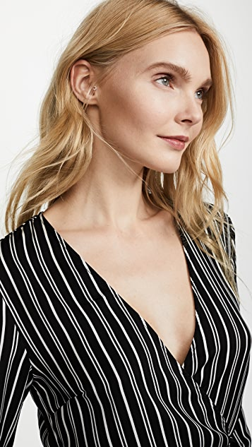The Fifth Label Ophelia Stripe Wrap Dress