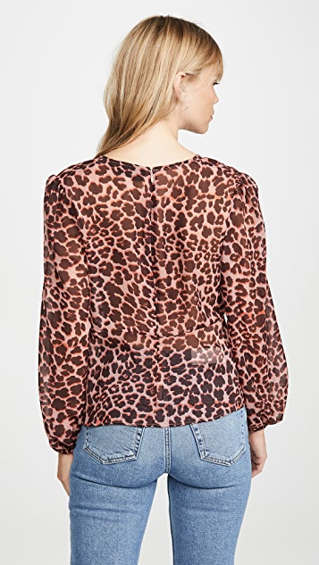 The Fifth Label Leopard Long Sleeve Top