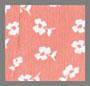 коралловый/цветочный рисунок цвета слоновой кости