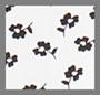 象牙白/黑色花朵