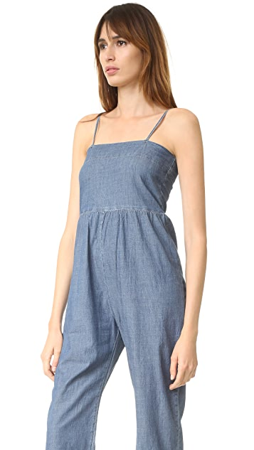 THE GREAT. The Chambray Romper