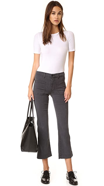 THE GREAT. Cropped Mariner Pants