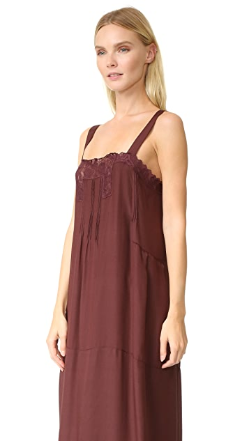 THE GREAT. The Pintuck Slip Dress