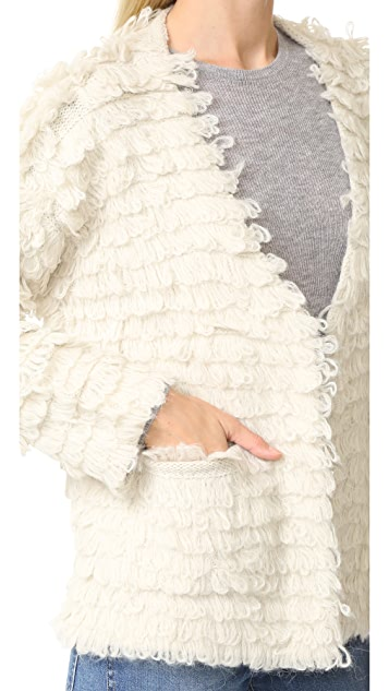 THE GREAT. Short Monster Cardigan