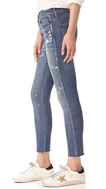 THE GREAT. The Almost Skinny Jeans with Raw Hem