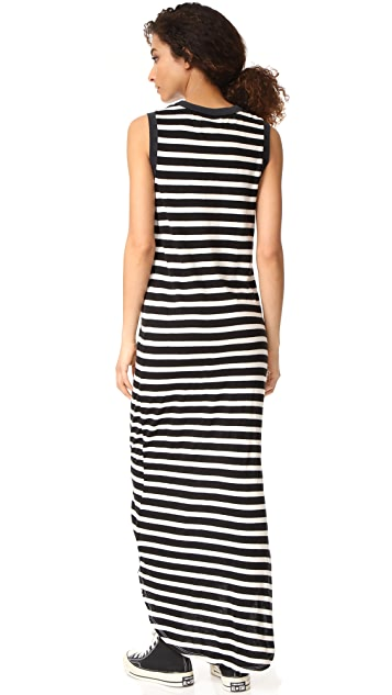 THE GREAT. The Sleeveless Knotted Tank Dress