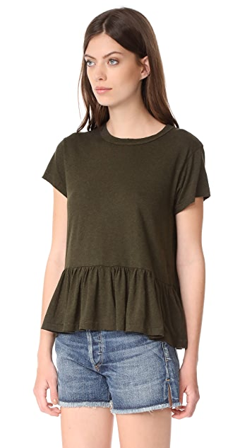 THE GREAT. Ruffle Tee